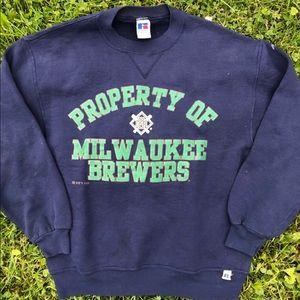 Vintage '96 Milwaukee Brewers Crewneck Sweater